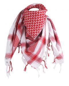 PLO/ Arafat sjaal in wit en rood