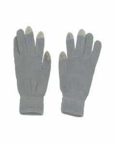 Lichtgrijze iGloves Touchscreen handschoenen