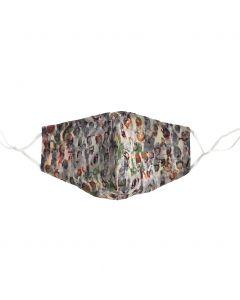 Katoenen verstelbaar mondkapje met meerkleurige abstracte print
