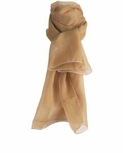 Camelkleurige effen voile sjaal