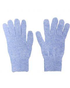 Fijn gebreide lichtblauwe 100% kasjmier handschoenen
