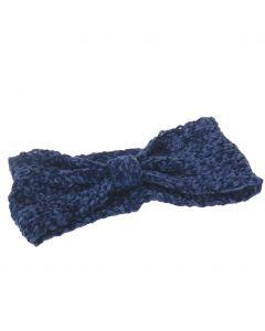Effen jeansblauwe cross haarband