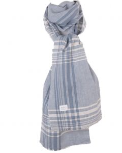 Licht jeansblauwe linnen sjaal