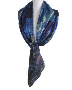 Zijden sjaal met afbeelding '' De sterrennacht'' van Gogh
