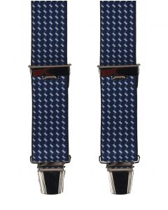 Donkerblauwe bretels met grafische print