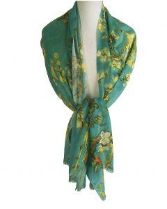 Sjaal met afbeelding ''Amandelbloesem'' van Gogh