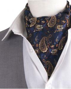 Set met donkerblauwe cravat & pochet