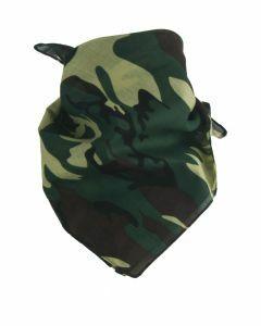 Boerenzakdoek / bandana met camouflage print