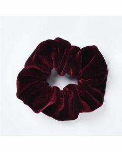 Velvet Scrunchie - Bordeaux rood