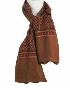 Klassieke bruine sjaal met Oxfordprint
