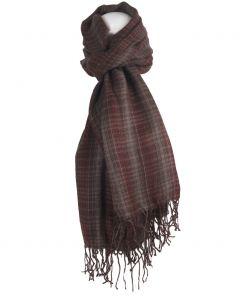 Sjaal met ruiten in grijs en bruin-tinten