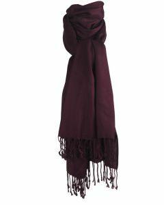 Pashmina sjaal in bruin-paars