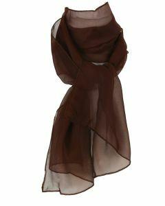 Effen donkerbruine voile sjaal