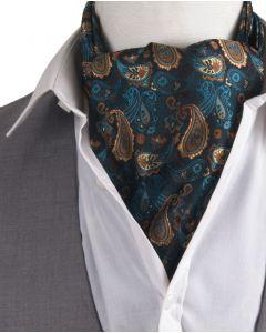 Set met paisley print cravat & pochet