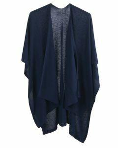 Kasjmier-blend omslagdoek in donkerblauw