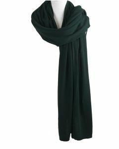 Kasjmier-blend sjaal/omslagdoek in donkergroen
