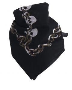Boerenzakdoek / bandana met doodskopmotief
