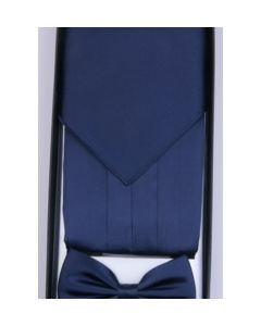 Set met cumberband, pochet en smokingstrik in navyblue