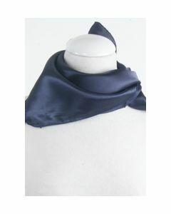 Effen marineblauw sjaaltje