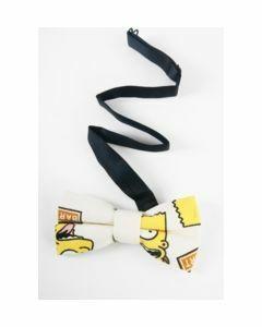Canvas vlinderstrik met Bart Simpson print