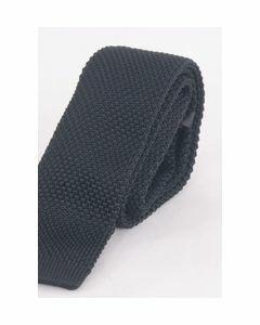 Zwarte trendy gehaakte stropdas