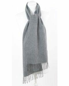 Donkergrijs gemêleerde wollen sjaal