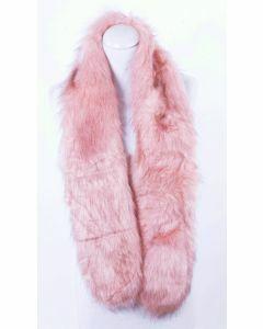 Gemêleerde roze kunstbont sjaal
