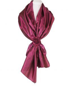 Ruby-roze stola van taft met rozen corsage