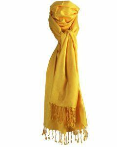 Gele pashmina sjaal