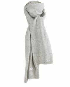 Kasjmier-blend sjaal in lichtgrijs