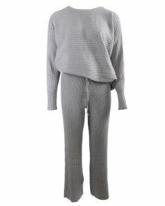 Kasjmier-blend comfy huispak in grijs- maat S/M