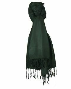 Donkergroene pashmina sjaal