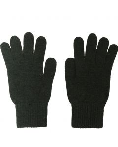 Fijn gebreide donkergroene100% kasjmier handschoenen