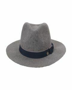 Lichtgrijs gemêleerde wolvilten hoed