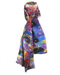 Sjaal met afbeelding van ''Die Jungfrau'' van Gustav Klimt
