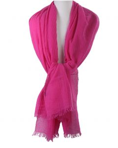 Hardroze stola/sjaal van 100% kasjmier
