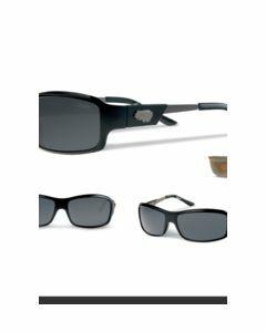 Casual zonnebril van kunststof en stalen brilpoten