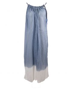 Strandjurk in jeansblauw en wit