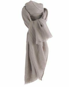Taupe-lichtgrijze  sjaal van een fijne kasjmier-zijde blend