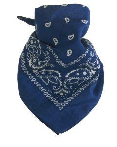 Boerenzakdoek / bandana in kobaltblauw