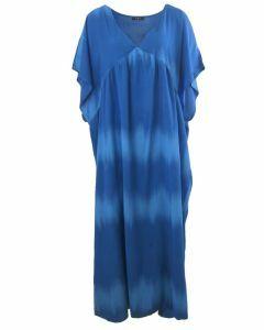 Kobaltblauwe maxi jurk met kleurverloop