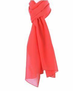 Koraalroze crêpe voile sjaal