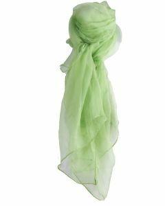 Effen pistache groene zijden voile shawl