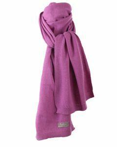 Kasjmier-blend sjaal in cyclaam-roze