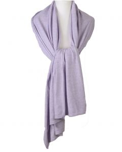 Kasjmier-blend sjaal/omslagdoek in licht-lila