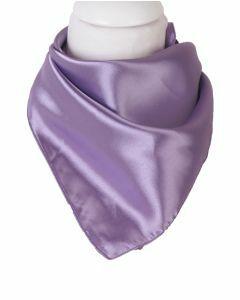 Vierkante satijnen sjaal in de kleur lila