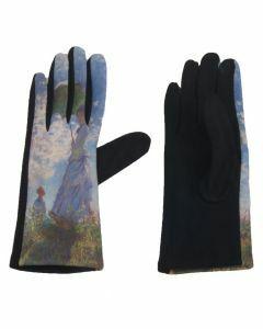 Handschoenen met afbeelding van ''Vrouw met een parasol'' door Monet
