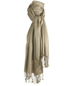 Pashmina sjaal in licht taupe