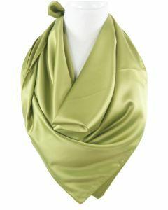 Effen olijfgroene satijnen sjaal