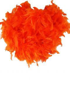 Oranje veren boa